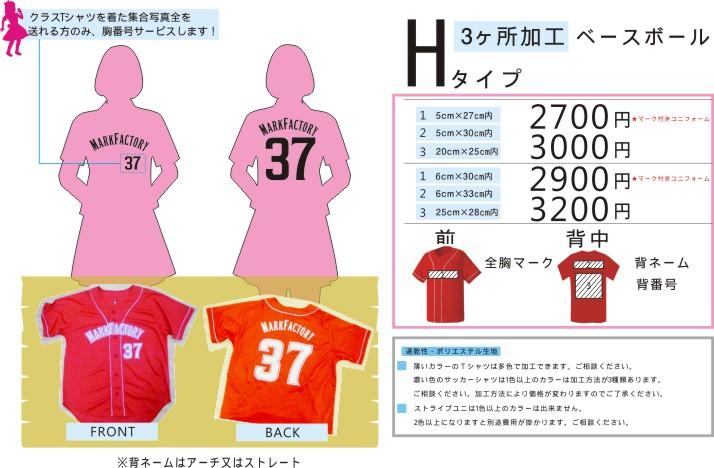 クラスTシャツ【Hタイプ】